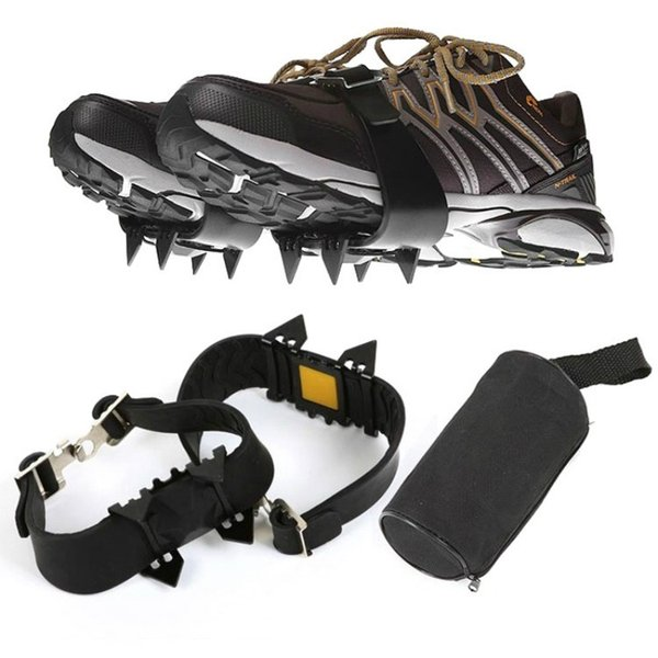 Outdoor 4 teeth simple crampons - non-slip shoe covers - snow climbing equipment - hiking shoes nail chain