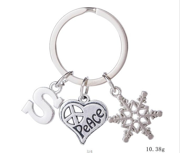 2019 Myshape Wholesale Retail Fashion New Design Newest Personalized Snowflake Heart Shape S Letter Charm Keychain Metal From Kiki Jewelry 0 97