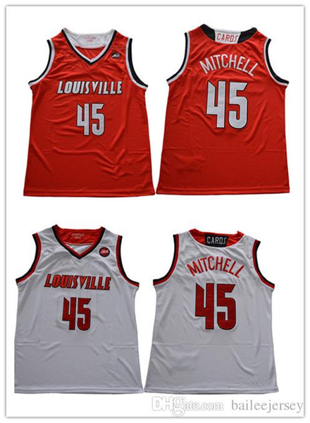 sports shoes 2d8ad 94090 2018 Mens Louisville Cardinals #45 Donovan Mitchell College Basketball  Jerseys 27 Rudy Gobert Stitched Embroidery Jerseys From Bailee520, $16.13 |  ...