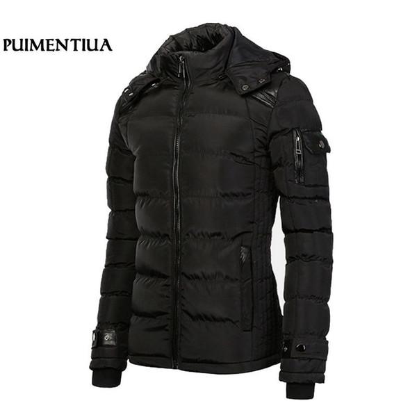 Men Winter Long Parka Coat Men Autumn Jackets Patchwork Hooded Thicken Outdoor overcoat Puimentiua