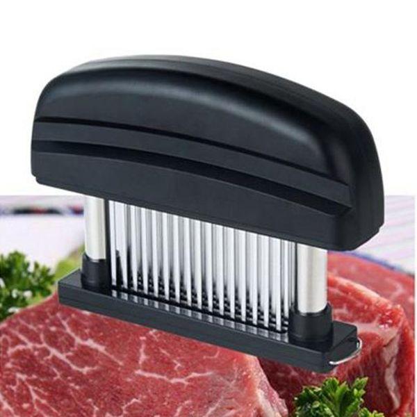 48 Bıçakları Iğne Et Tenderizer Paslanmaz Çelik Bıçak Et Beaf Steak Mallet Et Tenderizer Çekiç Pounder Pişirme Tavukçuluk Araçları WN339