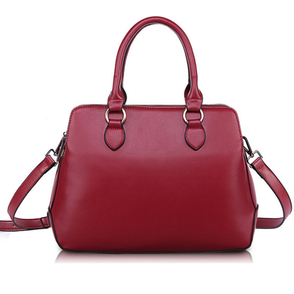 2018 new Famous design multi-function double zipper bag fashion pu leather Women's handbag pure color High Quality shoulder bags