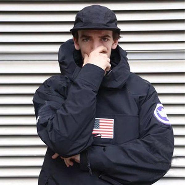 BOX LOGOTIPO Pullover Jacket Homens Mulheres Casacos Moda Bandeira Outerwear Qualidade Superior Quatro cores S ~ XL HFYRF004