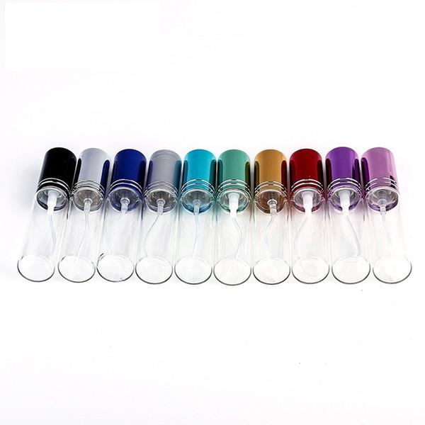 best selling 200pcs MINI 5ML 10ml metal Empty Glass Perfume Refillable Bottle Spray Perfume Atomizers Bottles DHL EMS Fedex Free Shipping