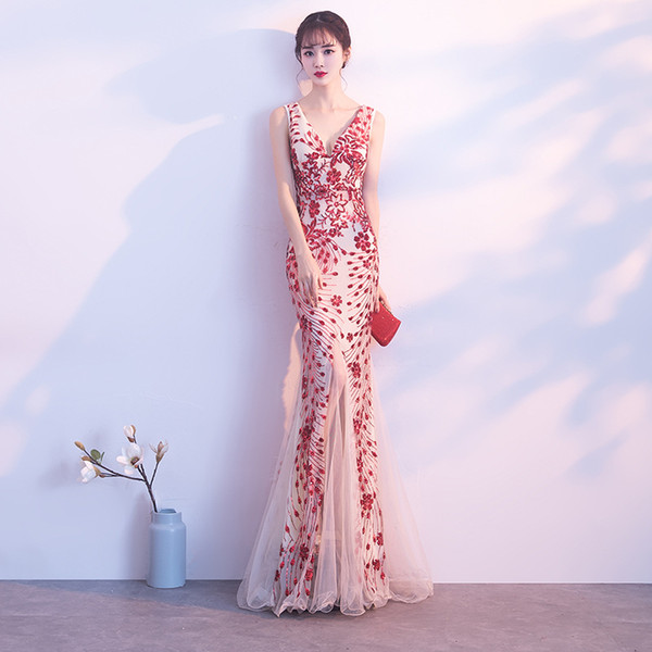 DH253 Evening Dresses Stock One Shoulder Flower Pattern Floral Print Chiffon Evening Dress Gown Party Long Prom Dresses