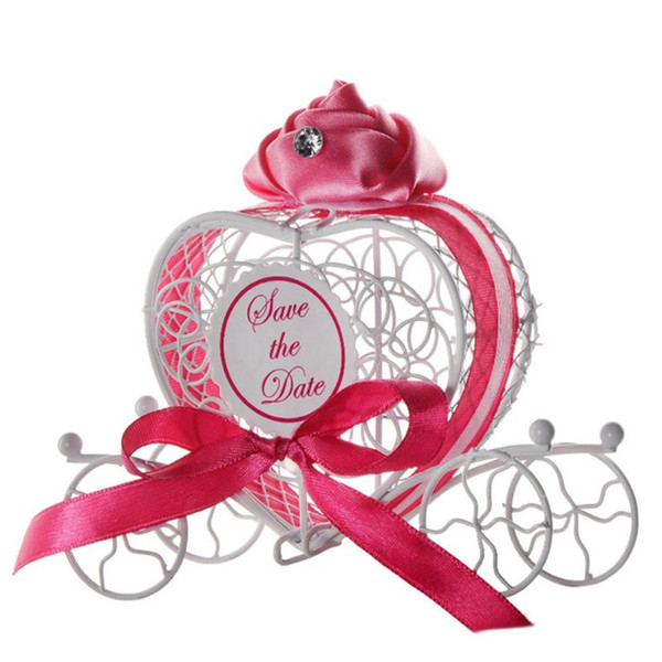 Caramelle di metallo Scatole di caramelle colorate Caramelle di caramelle romantiche Custodia per cioccolato Bomboniere per matrimonio LOVE Heart Coach in vendita