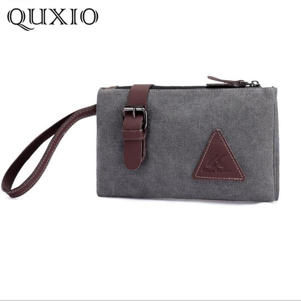 34509a839 Tide Canvas men's clutch large-capacity envelope bag hand grab bag tide  simple fashion casual