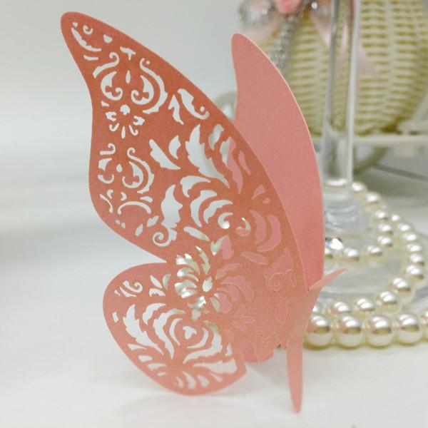 Carte da gioco a farfalla Carta tagliata a laser Carta di nome vuota per le carte per matrimoni da party Decorazioni da tavolo per PC PC-B21