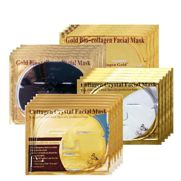 24K Gold/Black Mask Face Whitening Skin Care Beauty Sheet Mask Moisturizing Collagen Face Mask Whey Protein Face Sheet Masks