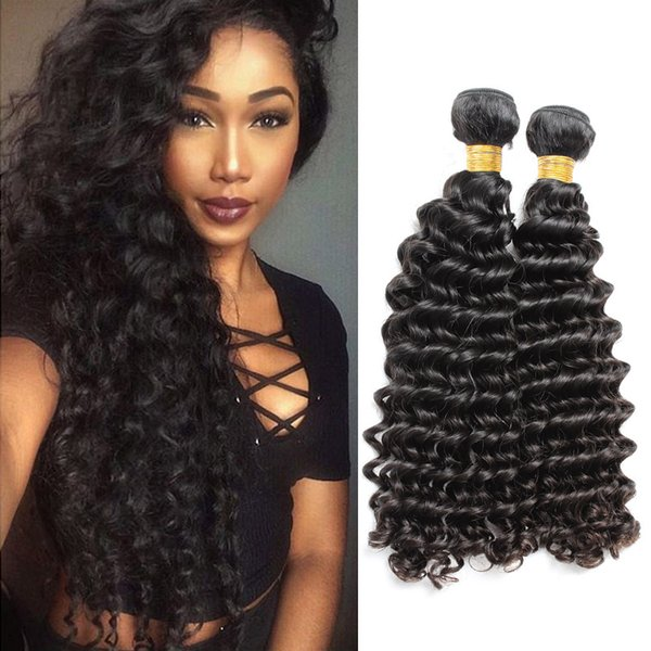 Brand Original Hair! 2pcs/Lot 10-24inch Brazilian Human Hair Deep Wave Unprocessed Brazilian Original Hair Extension BellaHair Free Shipping