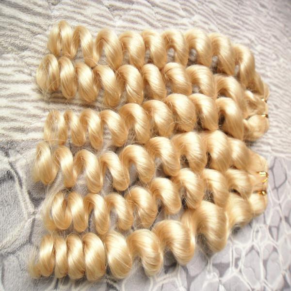 Волосы ткать пучки малайзийский свободные волны волос пучки ткать не Реми человеческих волос расширение 613 отбеливатель блондинка Бесплатная доставка