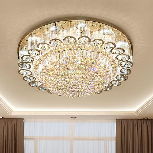LED crystal chandeliers factory prices luxury golden high class K9 crystal chandelier hotel lobby villa led pendant chandeliers with bulbs