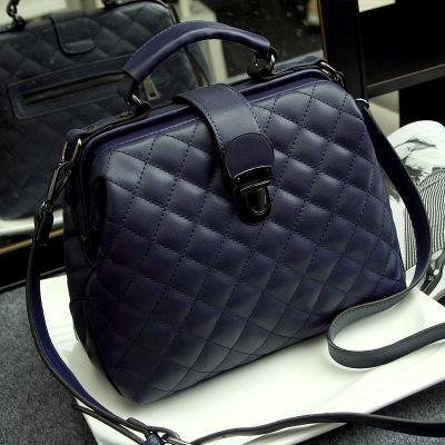 Dark blue quilted