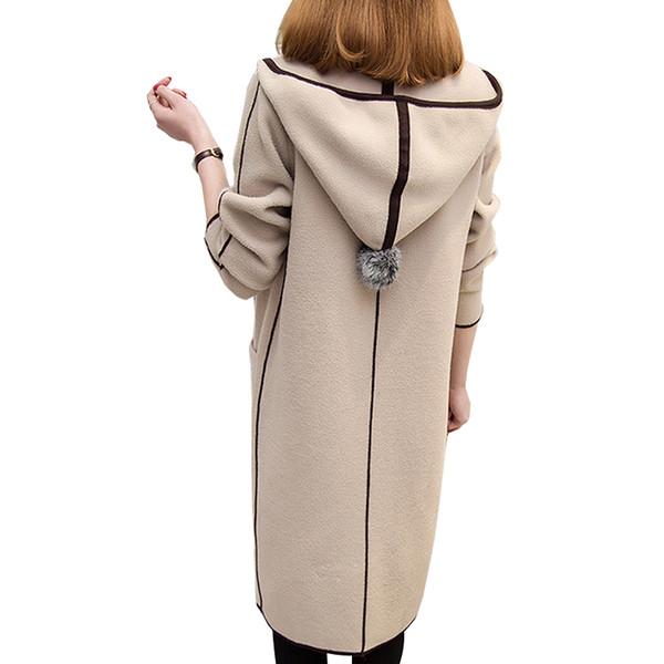 Female cardigan lady's sweater for women jacket Long plus size harajuku Elegant Pocket Knitted Outerwear Sweater Cape Coat