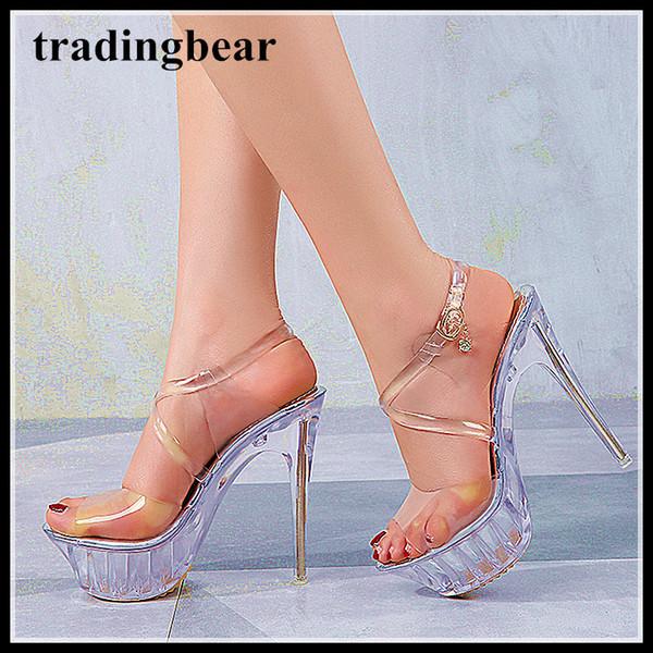 Plus size 35 to 40 41 42 43 silver transparent crystal PVC wedding shoes high heels men women designer shoes