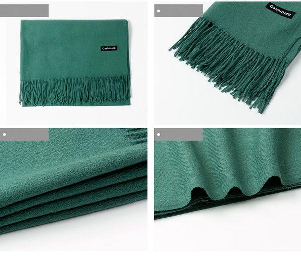 Luxury Brand Scarf Pashmina Cashmere Polyester Scarf Wrap Shawl Winter Scarf Women's Scarves Tassel Long Blanket Cachecol YYA992