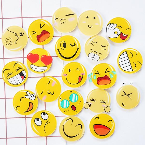 100 pcs/lot Cartoon Emoji Ideograms Magnet Kid Early Education Magnetic For Kids Phone Case Acrylic Figure Sticker