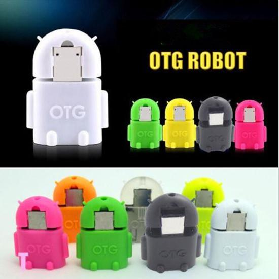 Android Robot OTG Cable Micro 5pin to USB Adapter for Tablet Computer U-Disk Keyboard MI HTC LG Smartphone