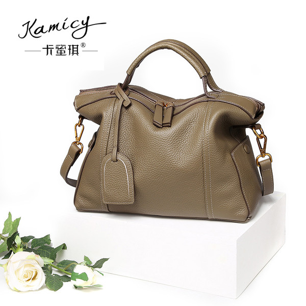 Kamicy 2017 best-seller nuevo bolso del estilo del bolso de Corea del bolso de la señora de la moda elegante inclinación casual de cuero juvenil