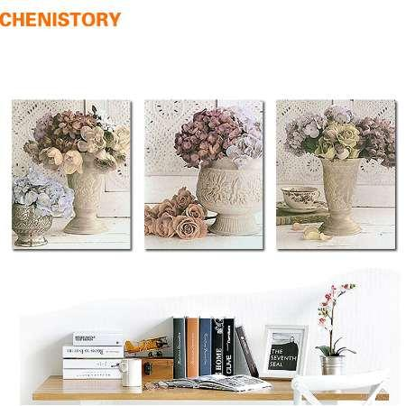 Европа стиль цветочные ретро стены Home Decor холст картины для украшения комнаты печати живопись искусства