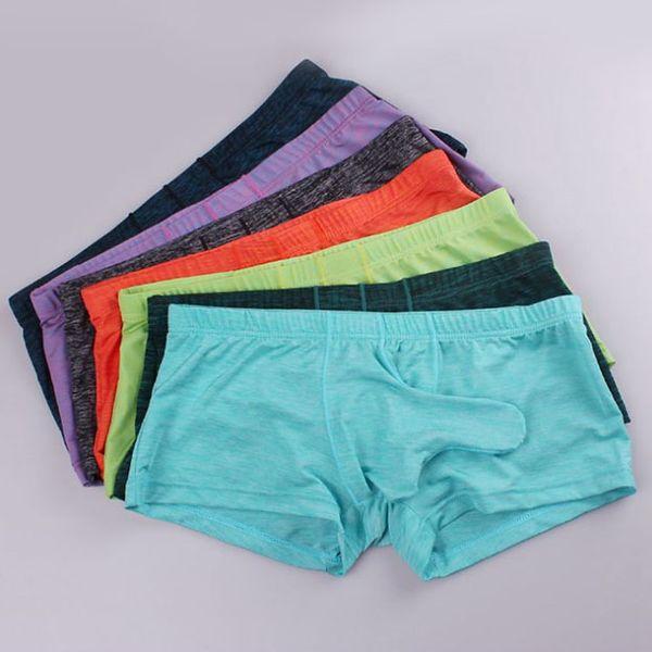 Mens Underwear Boxers Sexy Gay Panties Cueca Boxer Shorts Elephant Softy Male Underpants Penis Tube Boxershorts Underpants