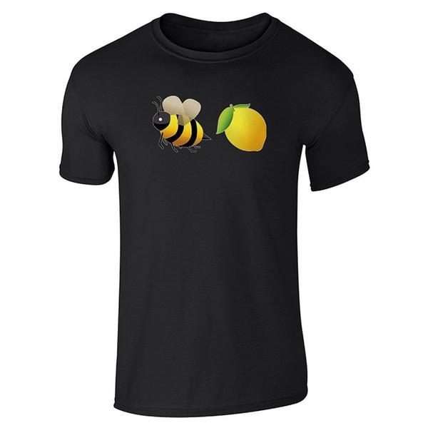 Brand Clothes Summer 2018 Printing Machine Men S Bee Lemon Lemonade Graphic O-Neck Short-Sleeve T Shirts
