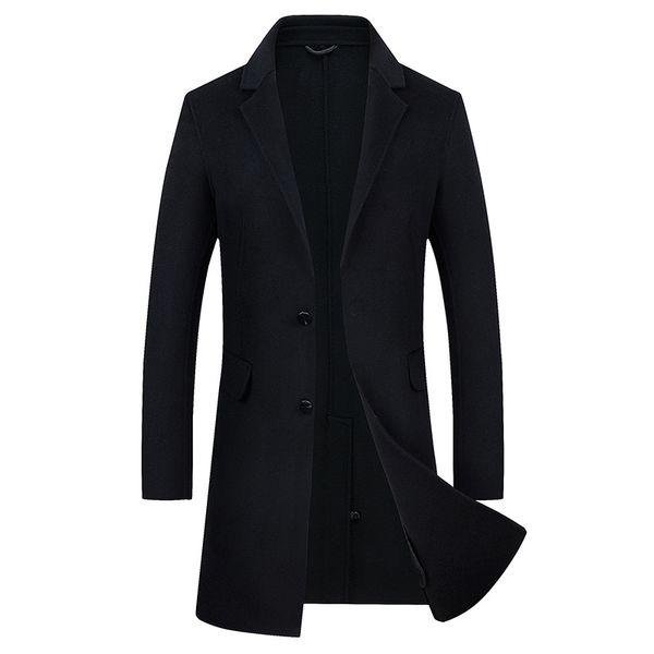 Mode En Noire Survêtement Hommes De D'hiver Mode Manteau Laine De Manteaux Automne À Manteaux Long Vent 2018 Manteau Homme Hommes Acheter Tops Veste knw0O8XP