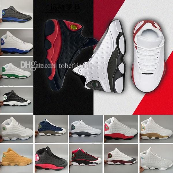 2018 high quality 13 13s black cat Hyper Royal olive Wheat GS Bordeaux DMP Chicago men basketball shoes 13s sports Sneaker Shoes