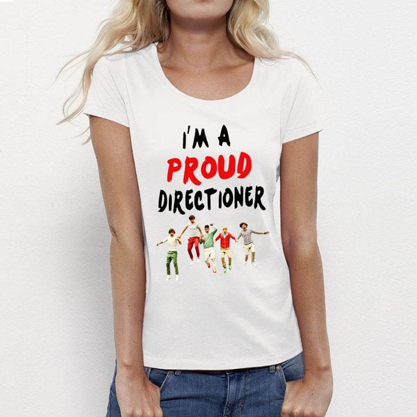 Fashion Female Tops Rock Roll One Direction T Shirt Women 1D Punk Print Director Vintage T-shirts Ladies Clothing Girls Tees