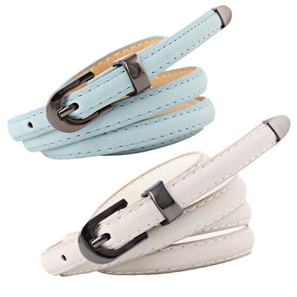 codice promozionale aa3a8 2e6e2 Acquista 30 PZ / LOTTO SINGYOU Donne Cintura Lunga i Cintura Sottile  Cintura Sottile Di Alta Qualità Jeans Cintura Fibbia In Metallo Cinturon  Femme A ...