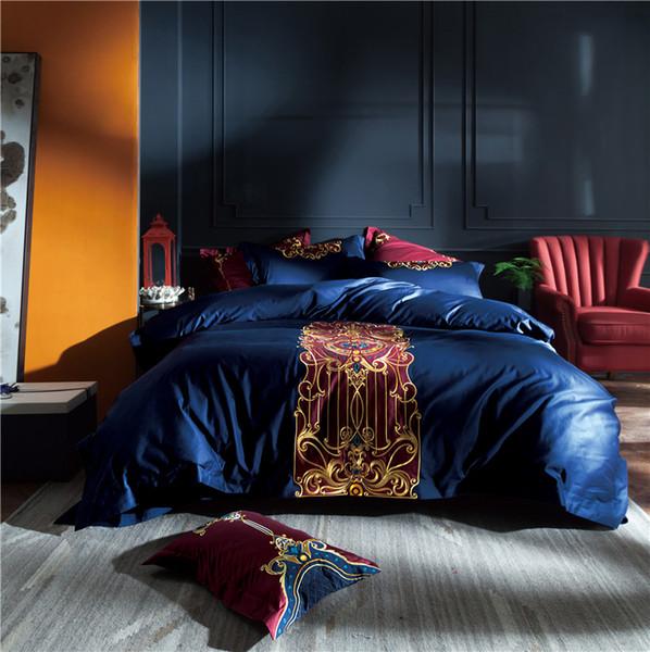 Copripiumino in lino con lenzuola e copriletto in cotone egiziano Luxury 100S