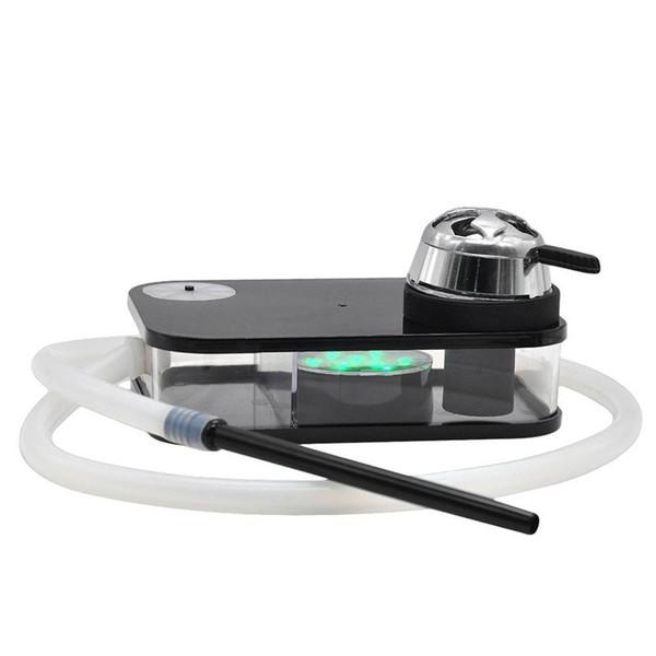 New Square Portátil Colorido Hookah Shisha Caixa de Fumaça Tubo Eletrônico Night Light Kit Acrílico Cor Bonita Tigela De Metal de Alta Qualidade