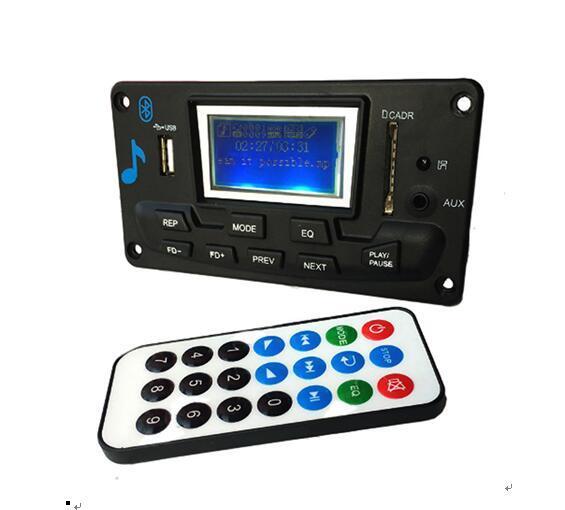 Bluetooth MP3 декодирования модуль платы LED лирический 12 в DIY USB / SD / MMC WAV декодер записи MP3-плеер AUX FM папки переключатель Card Reader