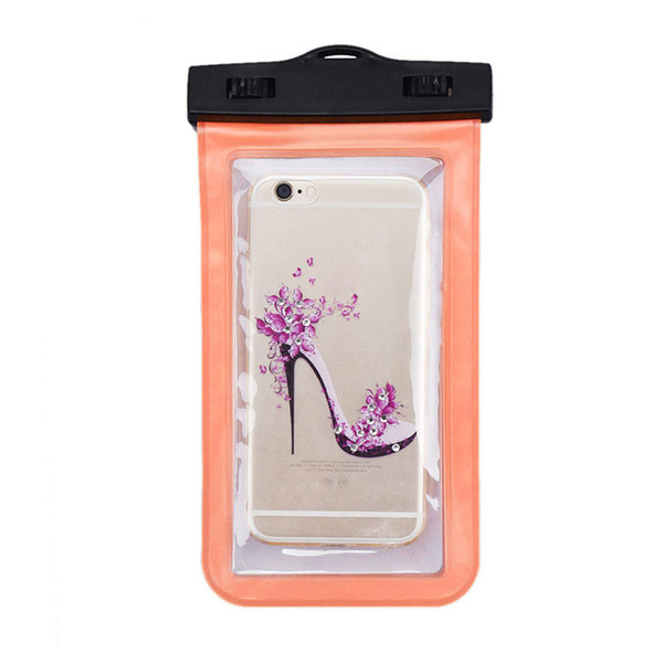 For Iphone 10 waterproof bag Waterproof Case Bag PVC Protective Universal Phone Case bag swimming hot spring cellphone pouch