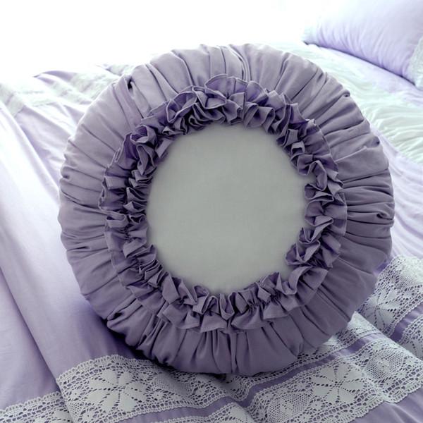 45x45cm Cotton fabric creative light purple pumpkin pillow cushion flounced throw pillow back cushion lumbar cushion bedroom