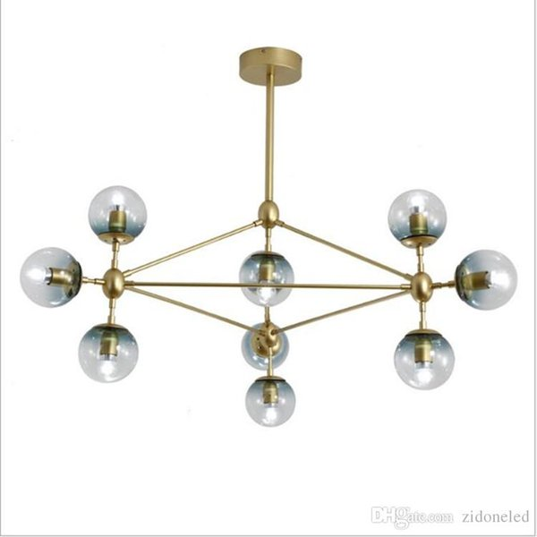 Nordic Led Globe Pendant Light Creative Glass Ball Chandeliers 3/5/10/15/21 Heads for Dining Room Bedroom Bar Light Fixtures