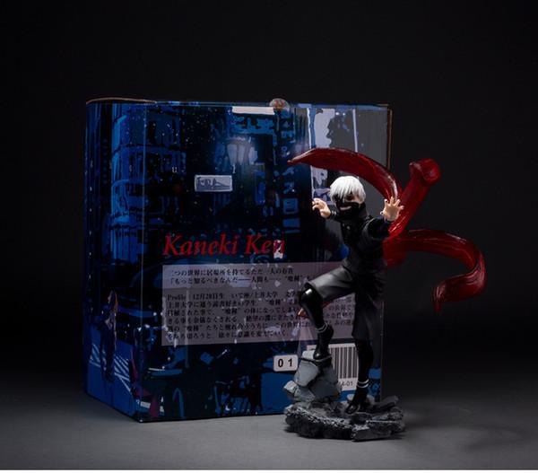 23 см Токио Вурдалак Kaneki Ken Аниме Фигурка ПВХ Новая Коллекция фигурок игрушки Коллекция для подарка другу