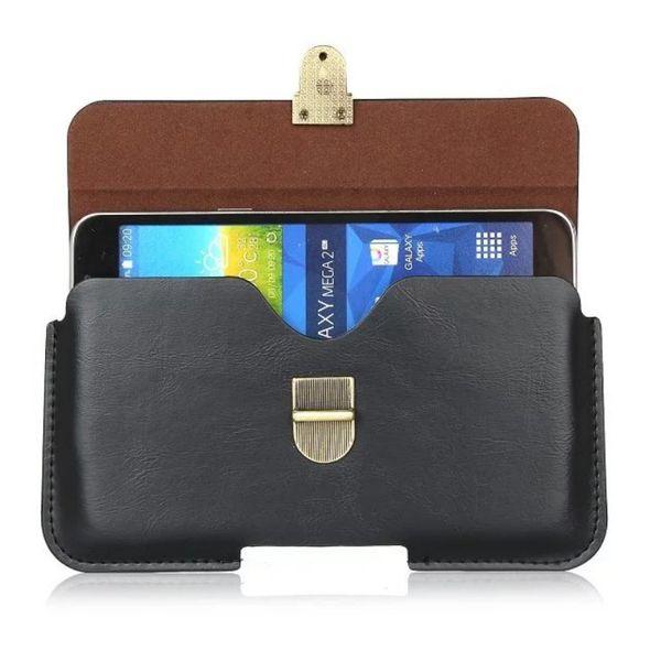Funda universal con clip de cinturón de cuero de PU para Qilive Smartphone Q4 5.0