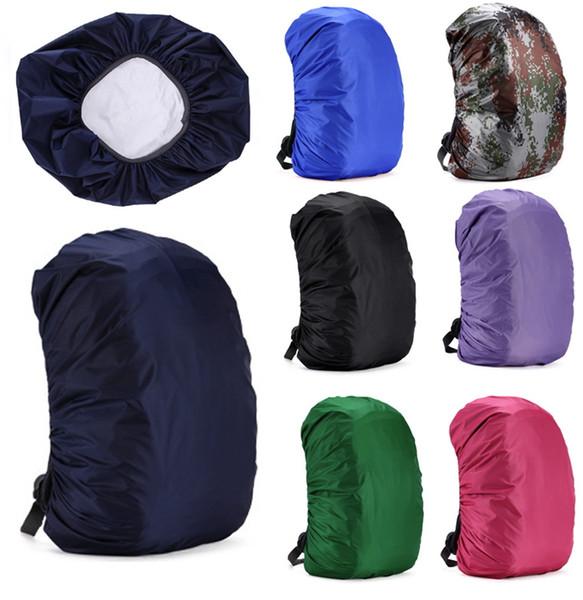 Mochila capa de chuva terno para 30L-55L impermeável tecidos capas de chuva de viagem de acampamento caminhadas ao ar livre saco de bagagem capa de chuva