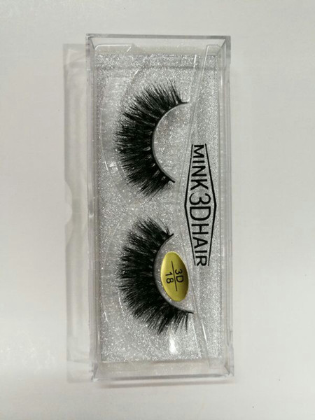 best selling Brand New 3D Mink hair False Eyelashes Real Thick Mink Hair for Beauty Fake Lashes 18 styles available DHL Free