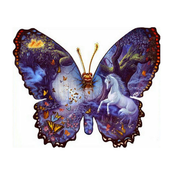 """Full Square/Round Drill Stone 5D DIY Diamond Painting Beads """"Butterfly"""" 3D Embroidery Cross Stitch Mosaic Rhinestone Home Decor"""