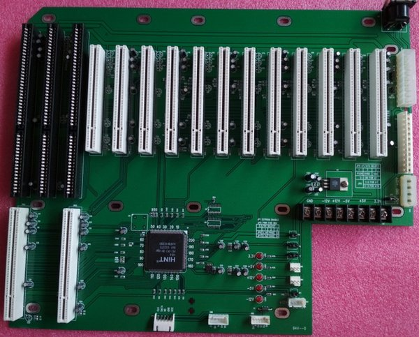 14 PCI 3 ISA backplane board with 12V ,24 pin ATX , 12 pin AT , DC Power industrial motherboard tested working