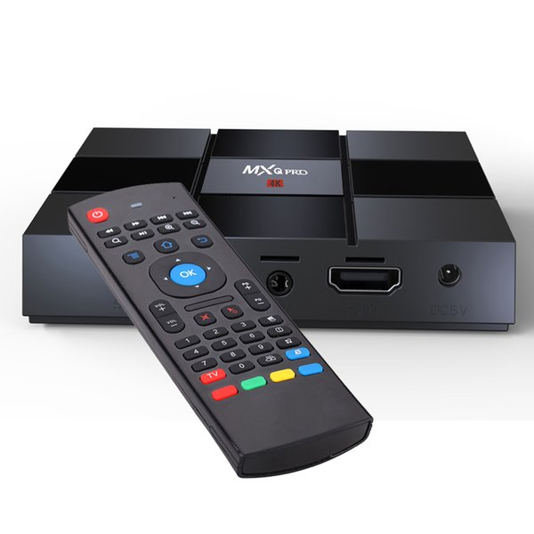 MXQ Pro Android 7.1 TV Box 2GB 16GB 4K Quad Core WiFi Streaming Media Player with MX3 Air Mouse Remote