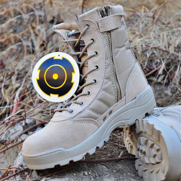 Acquista Nuovi Stivali Militari In Pelle Da Uomo Gli Uomini Stivali Da Combattimento Stivali Tattici Fanteria Bot Bot Esercito Esercito Bots Scarpe