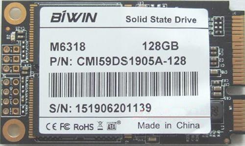 best selling For BIWIN STORAGE G6318 128G 40*22 NGFF M2 Solid State Drives