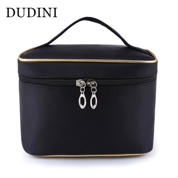 Dudini fa hion large capacity co metic bag extra big women waterproof  olid travel nece  aire toiletry make up bag