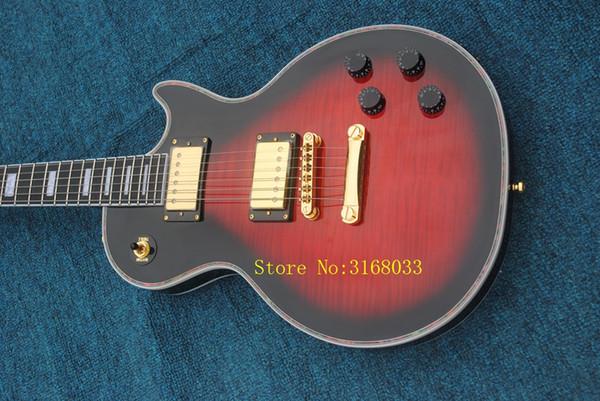 Black Cherry Custom Ebony Fingerboard Electric Guitar Mahogany Body OEM Cheap