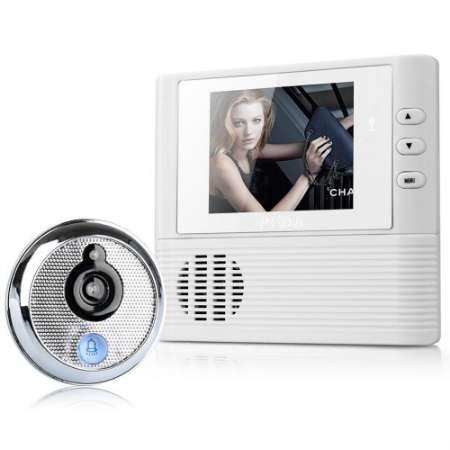 2.8 inç LCD Dijital Kapı Kamera Kapı Zili Peephole Video-göz Ev Güvenlik Gece Görüş Kamera Kapı Bell 300 K Kamera Piksel