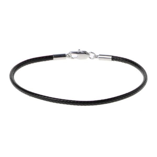 Classic Fashion Black Leather String Bracelet Red Line Jewelry Line Rope Red Women's Bracelet Lobster Bracelets