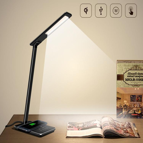 New LED Desk Lamp Table lights Folding Eye-friendly 4Light Color Temperature Book Light with Wireless Desktop Charger